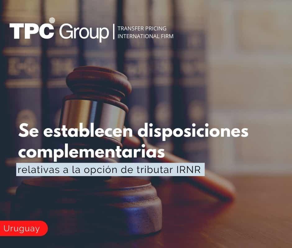 Se establecen disposiciones complementarias relativas a la opción de tributar IRNR