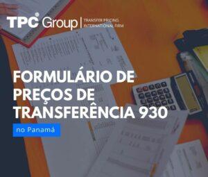 Formulário de Preços de Transferência 930
