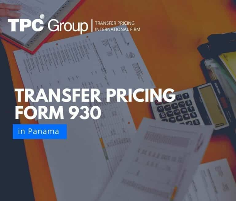 Transfer Pricing Form 930