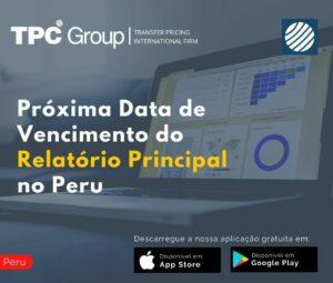 Próxima Data de Vencimento do Relatório Principal no Peru