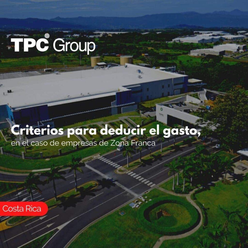 Criterios para deducir el gasto, en el caso de empresas de Zona Franca