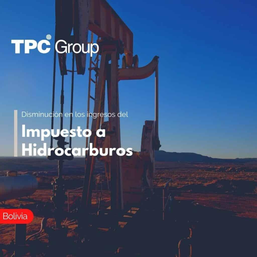 Disminución en los ingresos del Impuesto a Hidrocarburos