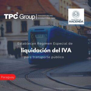 Establecen Régimen Especial de liquidación del IVA para transporte público