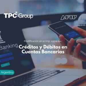Modificación en el Imp. sobre los Créditos y Débitos en Cuentas Bancarias