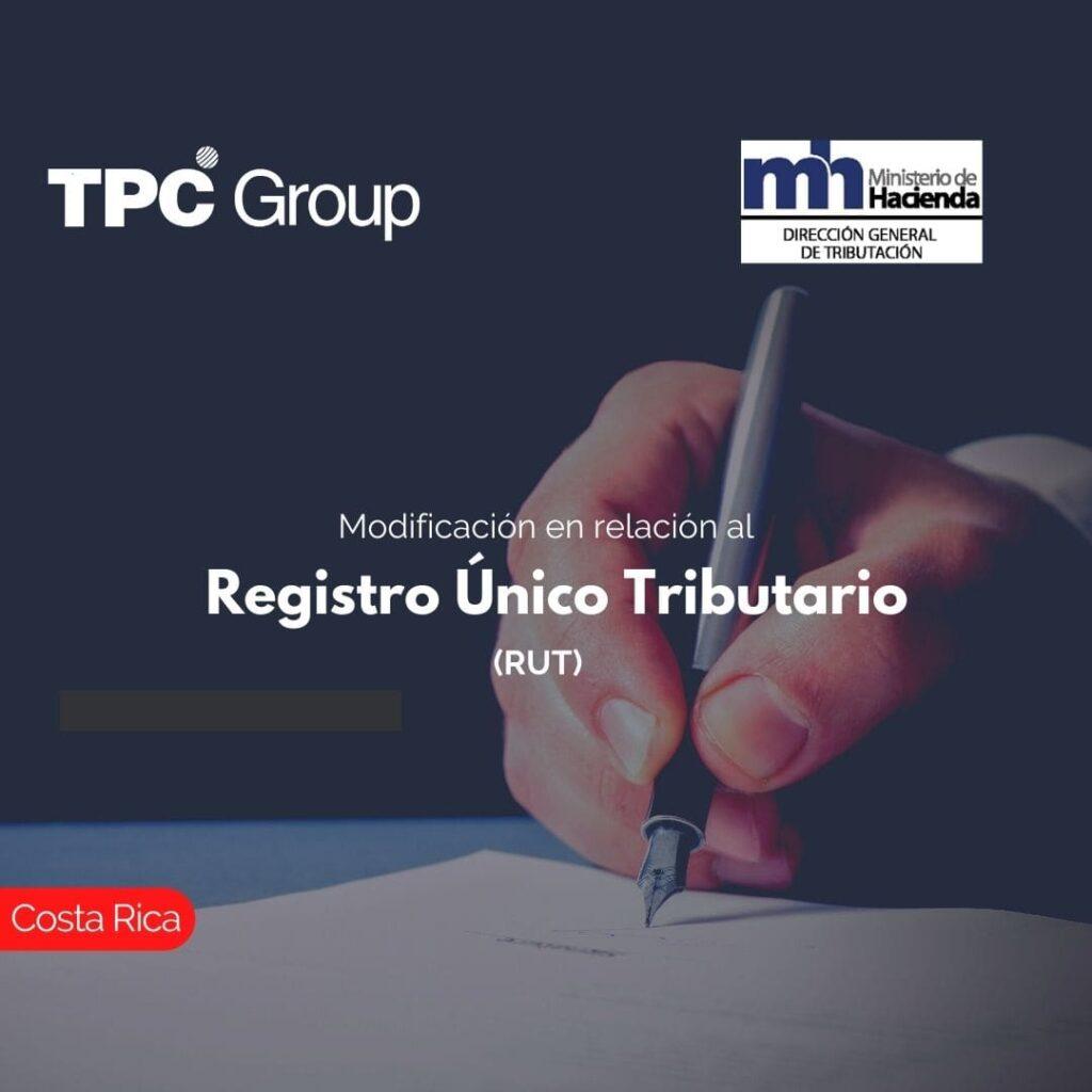 Modificación en relación al Registro Único Tributario (RUT)