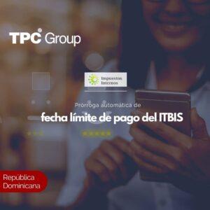 Prórroga automática de fecha límite de pago del ITBIS
