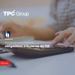 Prórroga para presentación de obligaciones tributarias del IUE