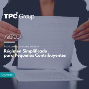 Publican disposiciones sobre el Régimen Simplificado para Pequeños Contribuyentes