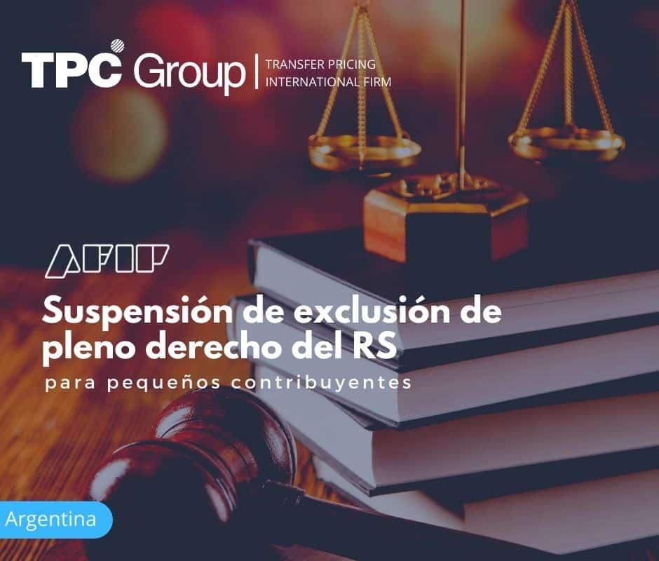 Suspensión de exclusión de pleno derecho del RS para pequeños contribuyentes