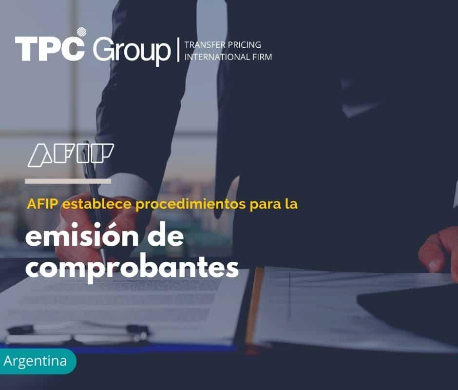 AFIP establece procedimientos para la emisión de comprobantes.