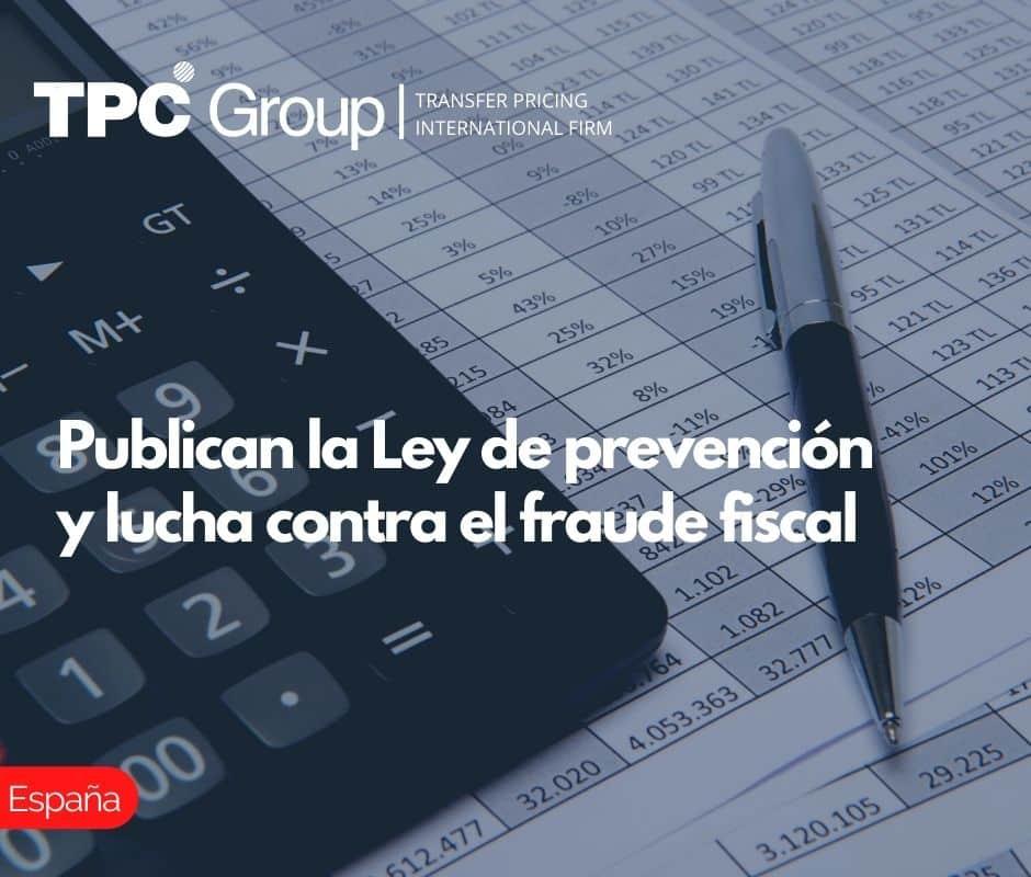 Publican la Ley de prevención y lucha contra el fraude fiscal