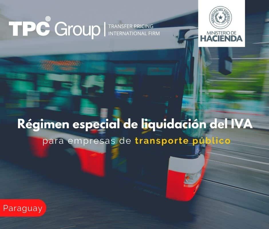 Régimen especial de liquidación del IVA para empresas de transporte público