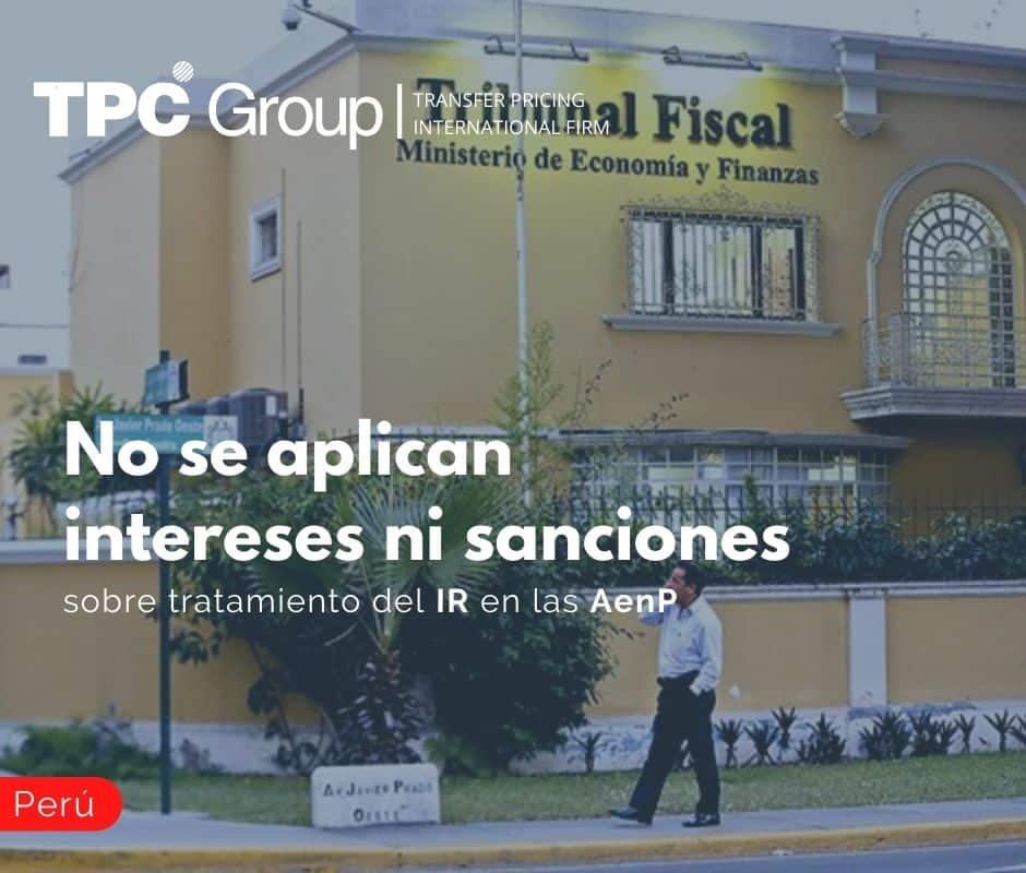 No se aplican intereses ni sanciones sobre tratamiento del IR en las AenP