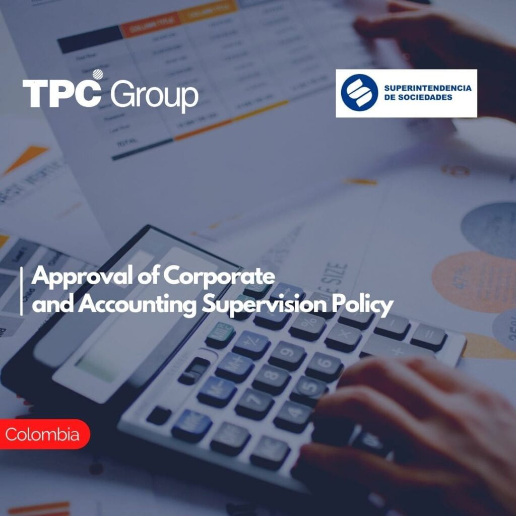 Approval of Corporate and Accounting Supervision Policy