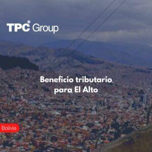 Beneficio tributario para El Alto