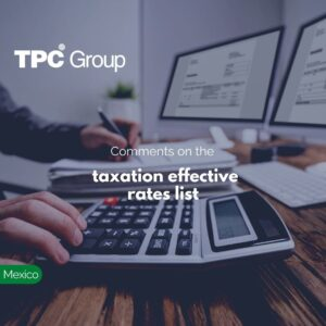Comments on the taxation effective rates list