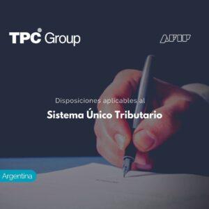 Disposiciones aplicables al Sistema Único Tributario