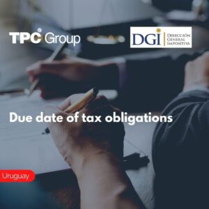 Due date of tax obligations