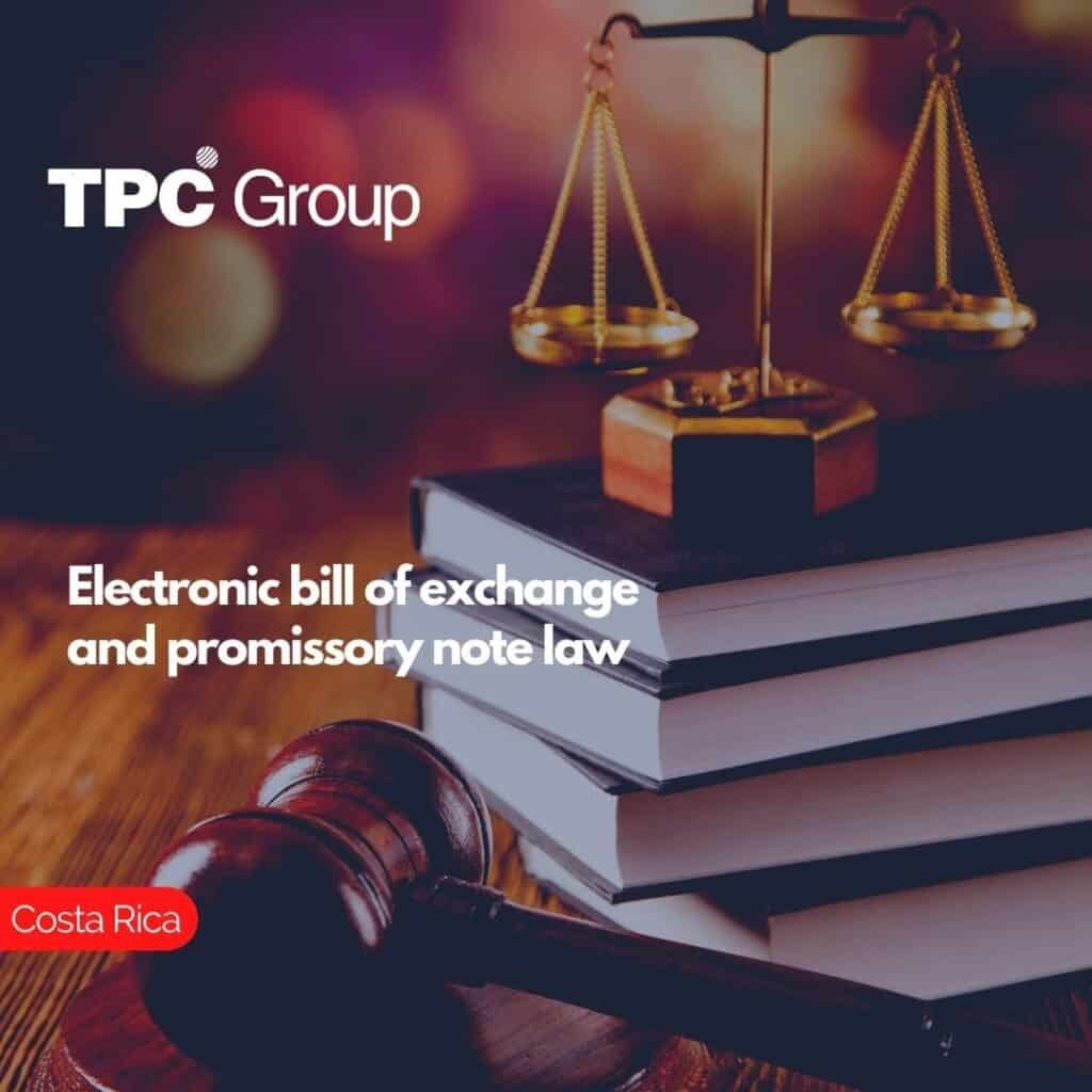Electronic bill of exchange and promissory note law