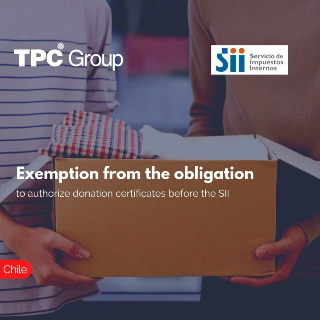Exemption from the obligation to authorize donation certificates before the SII