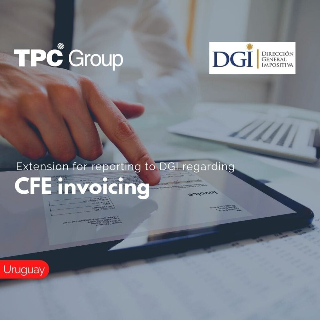 Extension for reporting to DGI regarding CFE invoicing