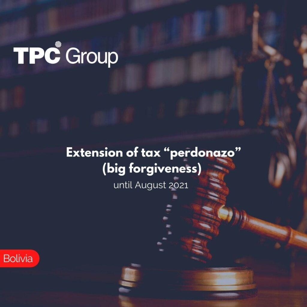 "Extension of tax ""perdonazo"" (big forgiveness) until August 2021"