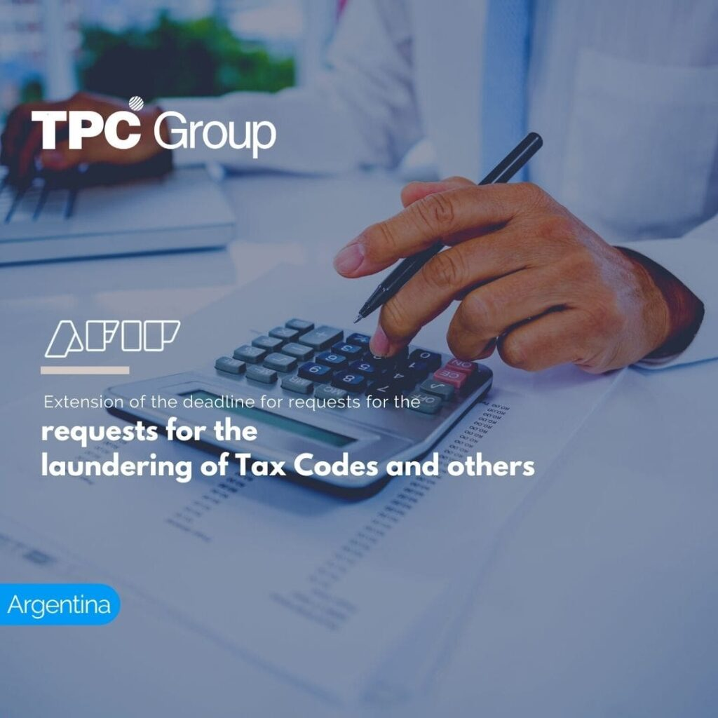 Extension of the deadline for requests for the laundering of Tax Codes and others
