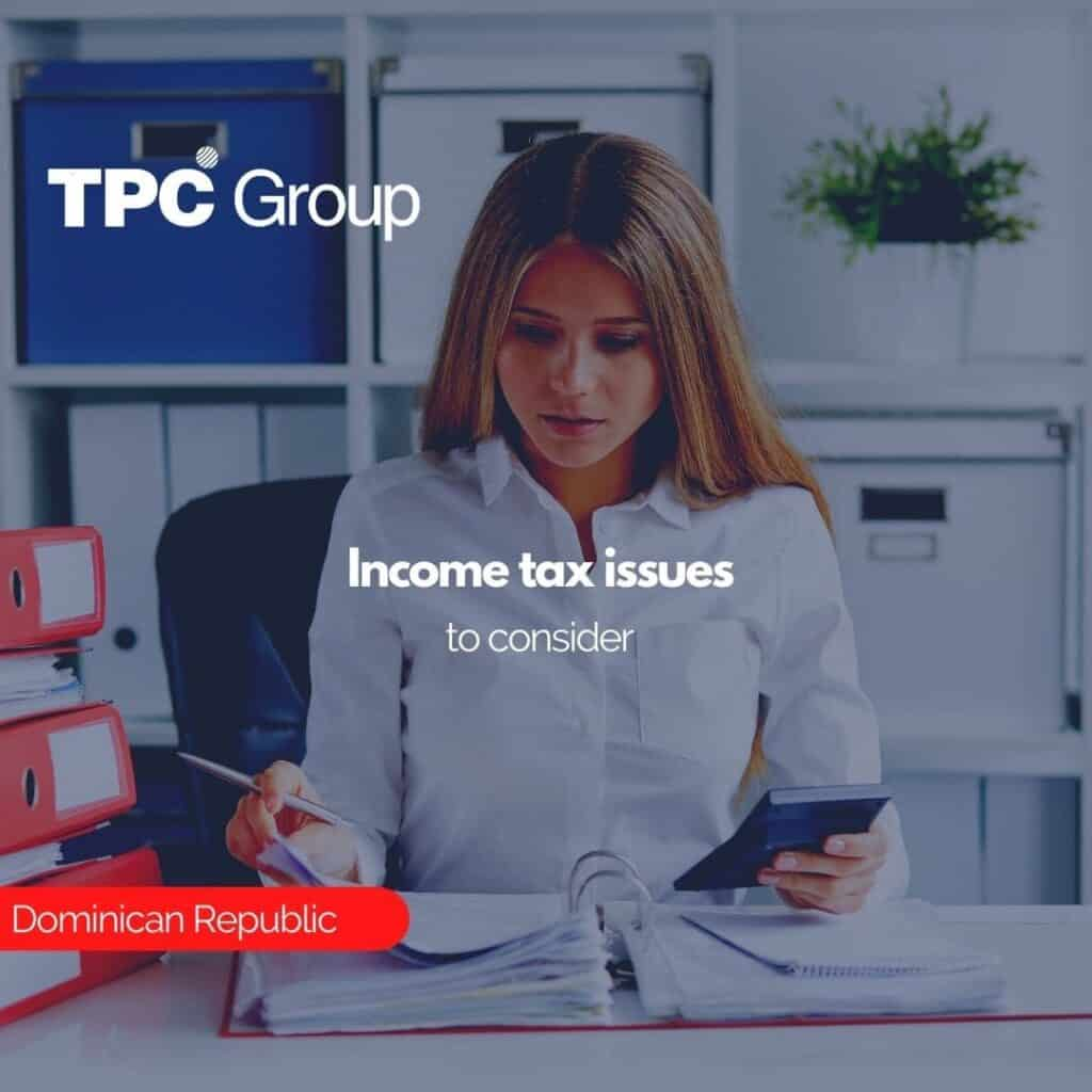 Income tax issues to consider