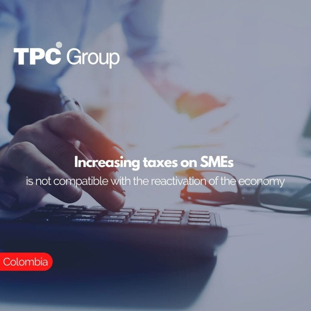 Increasing taxes on SMEs is not compatible with the reactivation of the economy