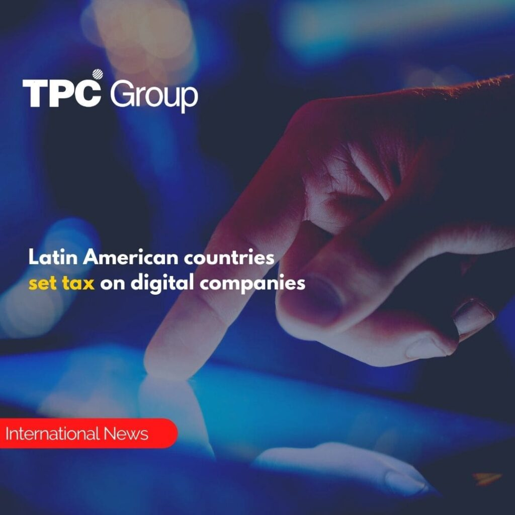 Latin American countries set tax on digital companies