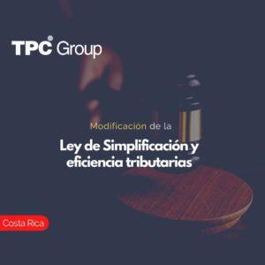 Modificación de la Ley de Simplificación y eficiencia tributarias