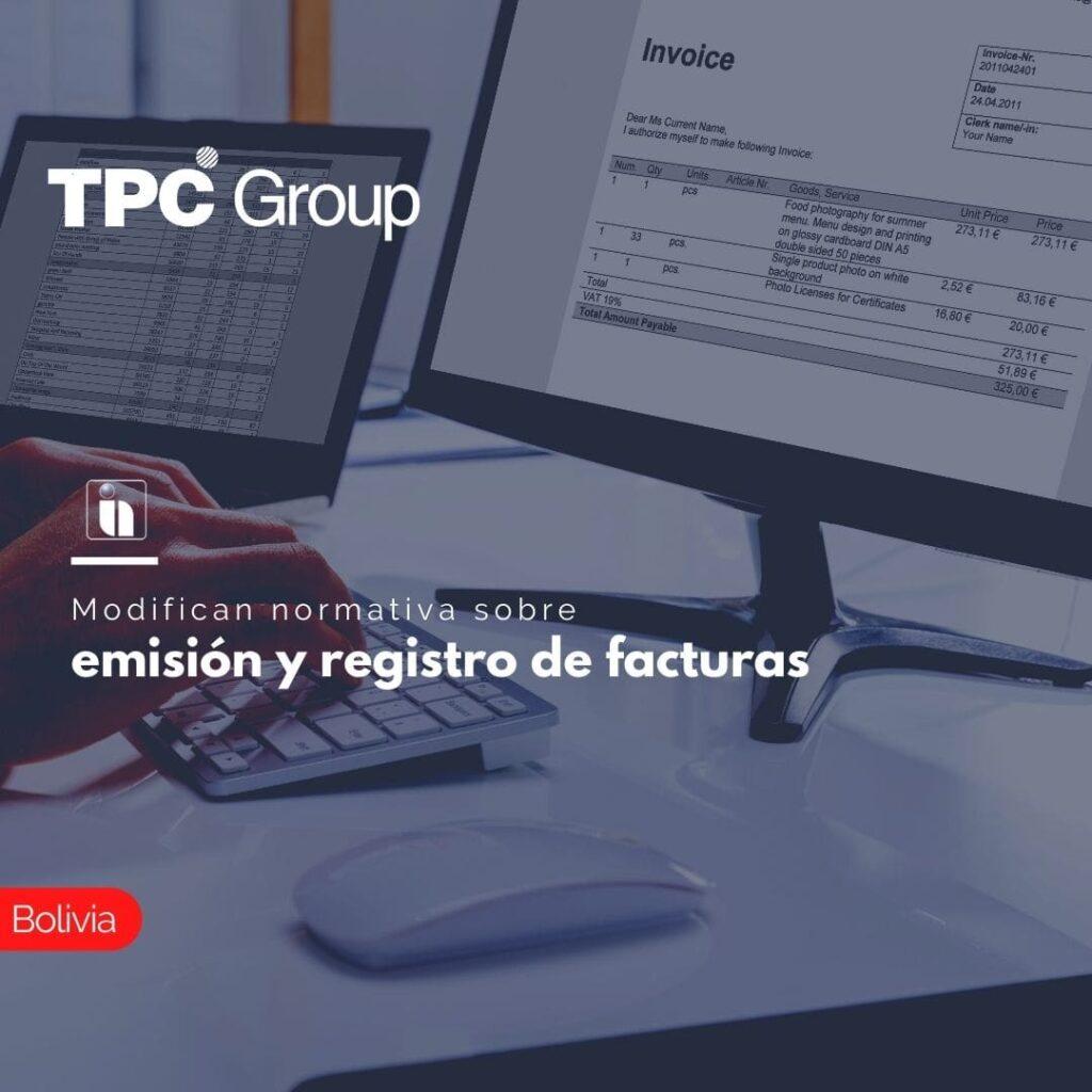 Modifican normativa sobre emisión y registro de facturas