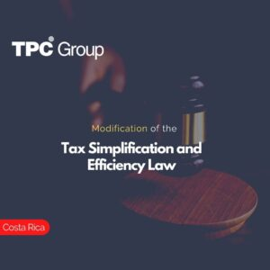 Modification of the Tax Simplification and Efficiency Law