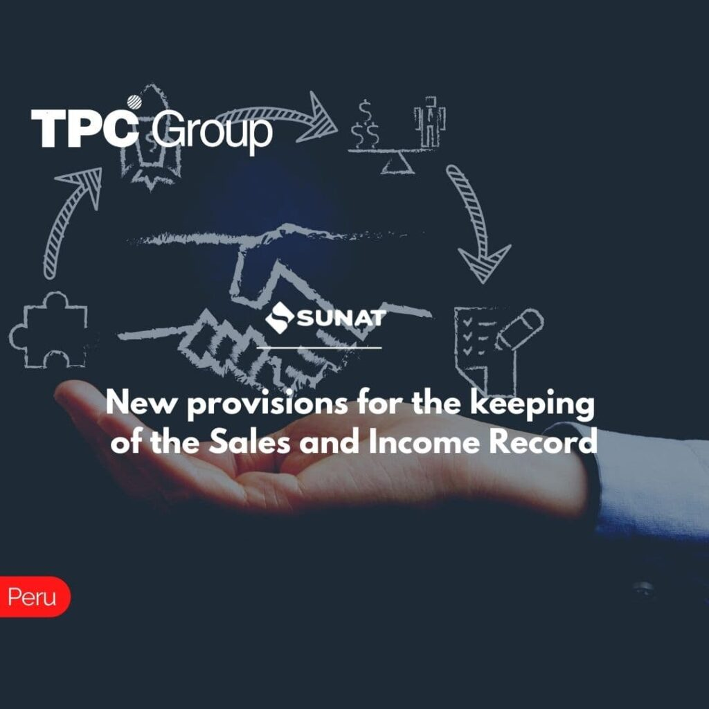 New provisions for the keeping of the Sales and Income Record