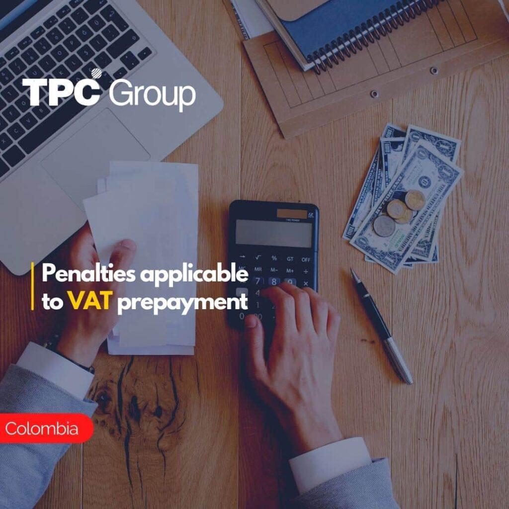 Penalties applicable to VAT prepayment