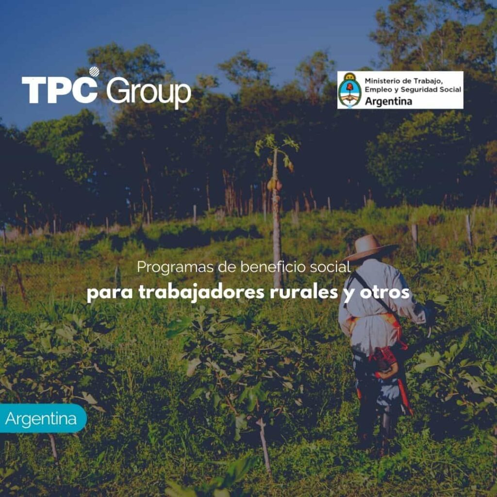 Programas de beneficio social para trabajadores rurales y otros