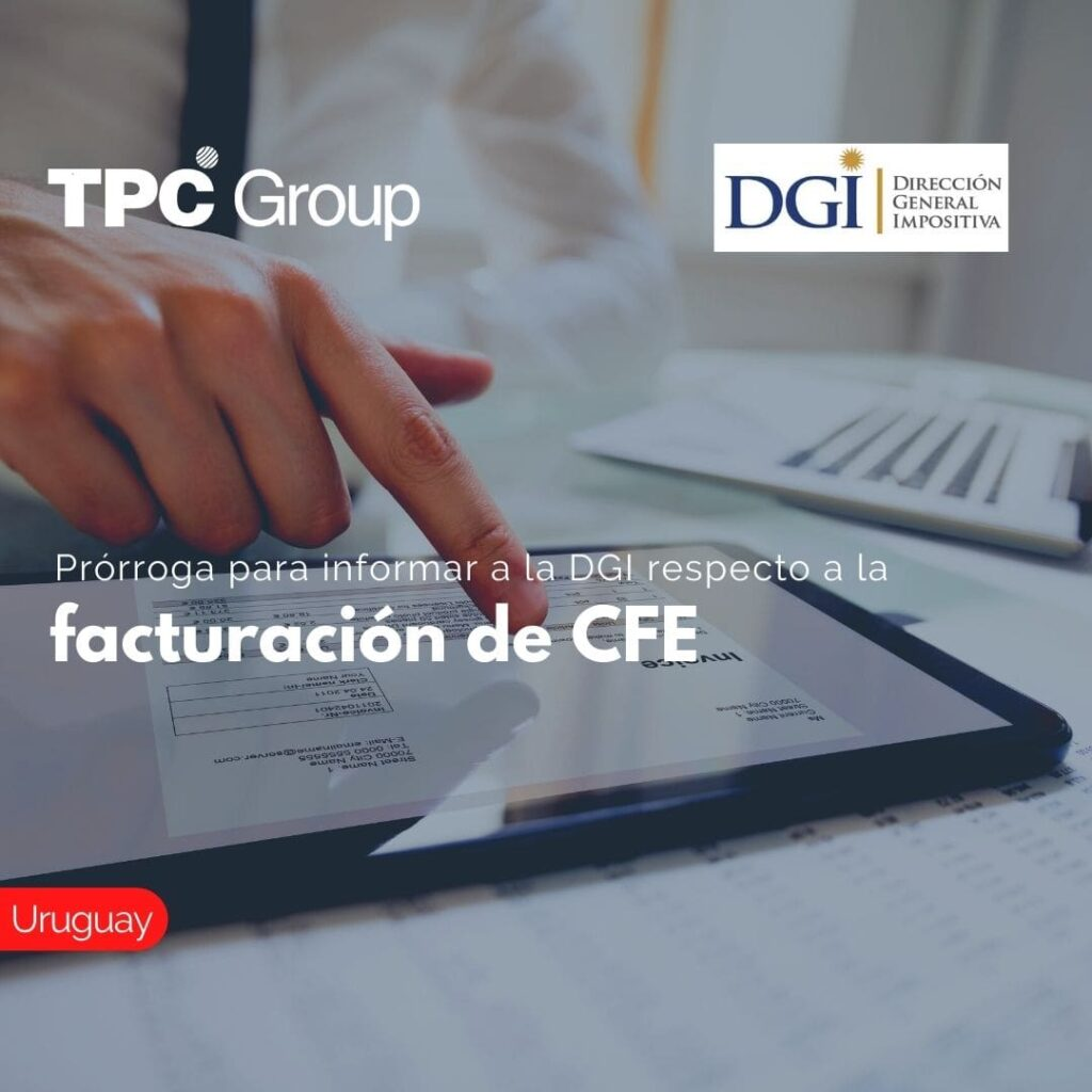 Prórroga para informar a la DGI respecto a la facturación de CFE