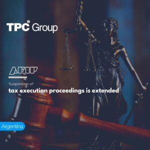 Suspension of tax execution proceedings is extended