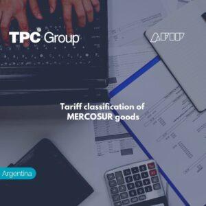 Tariff classification of MERCOSUR goods