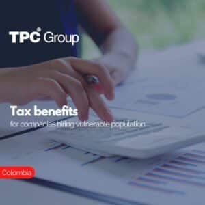 Tax benefits for companies hiring vulnerable population