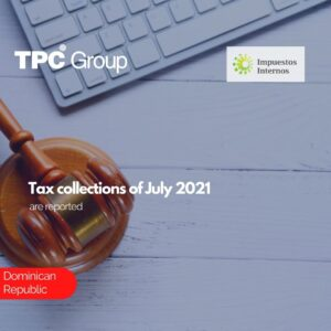 Tax collections of July 2021 are reported