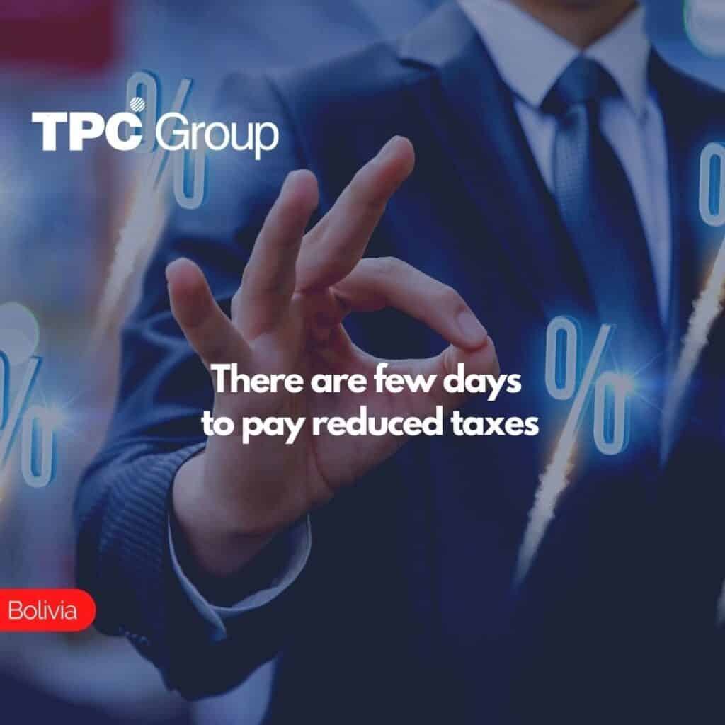 There are few days to pay reduced taxes