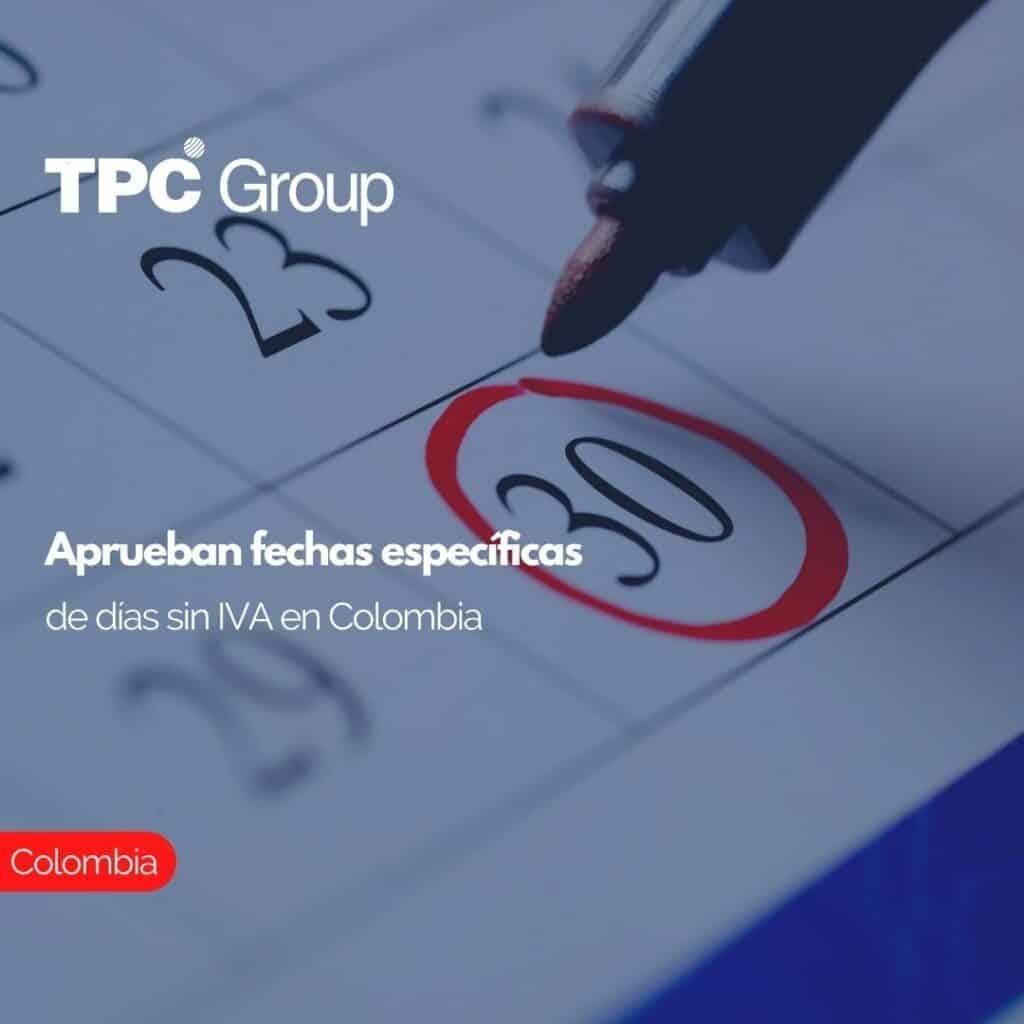 Aprueban fechas específicas de días sin IVA en Colombia