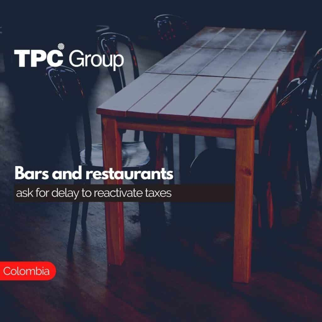 Bars and restaurants ask for delay to reactivate taxes