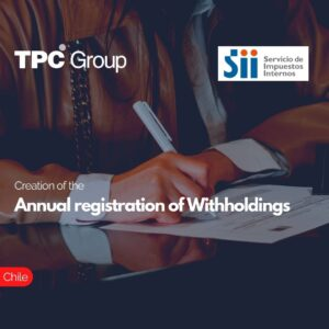 Creation of the annual registration of withholdings