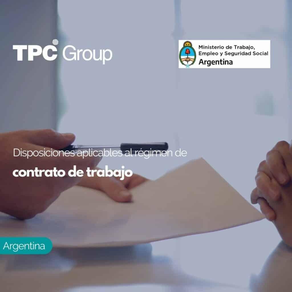 Disposiciones aplicables al régimen de contrato de trabajo
