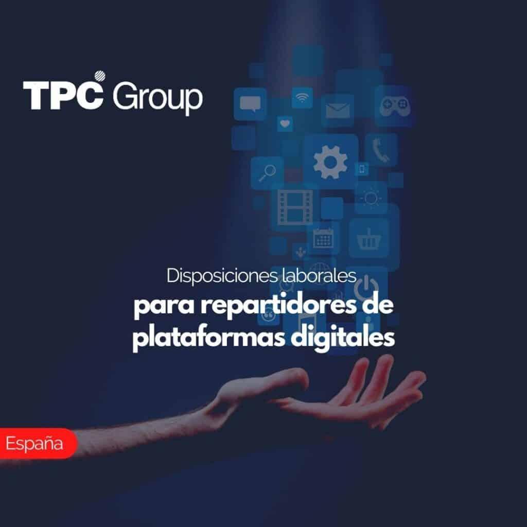 Disposiciones laborales para repartidores de plataformas digitales