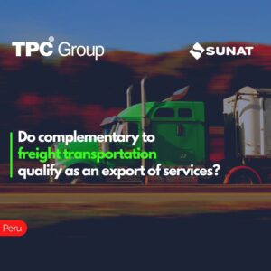 Do complementary to freight transportation qualify as an export of services