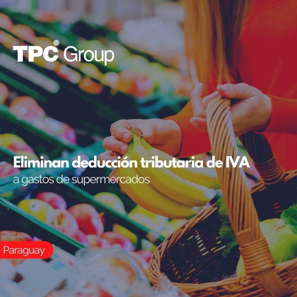 Eliminan deducción tributaria de IVA a gastos de supermercados