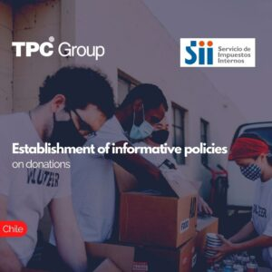 Establishment of informative policies on donations